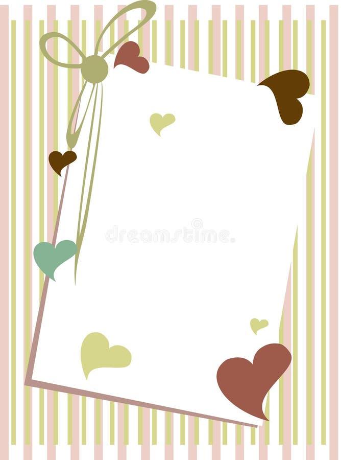 pustej karty powitania notatka ilustracja wektor