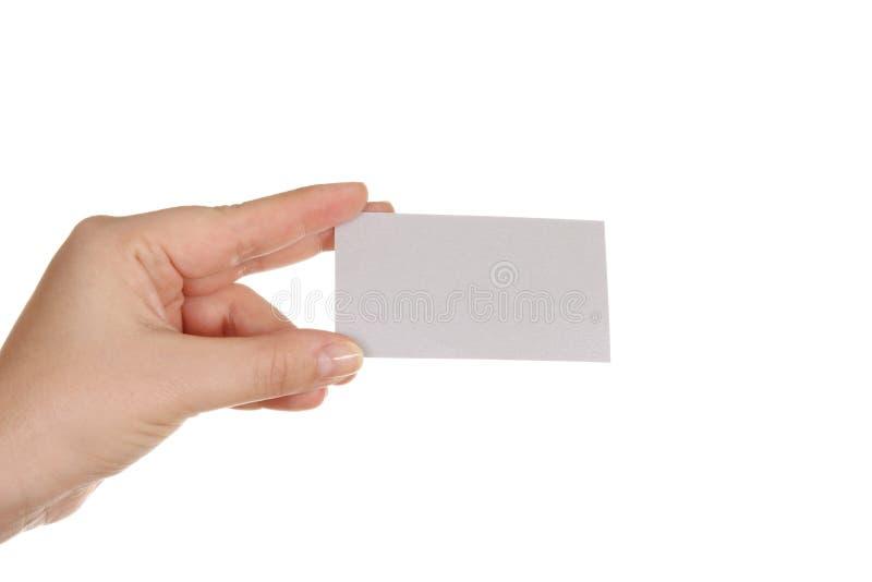 pustej karty ręka obrazy royalty free