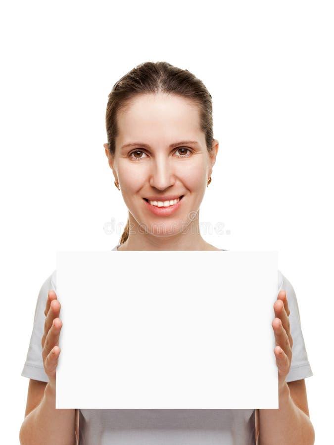 pustej karty ręki kobiety obrazy royalty free