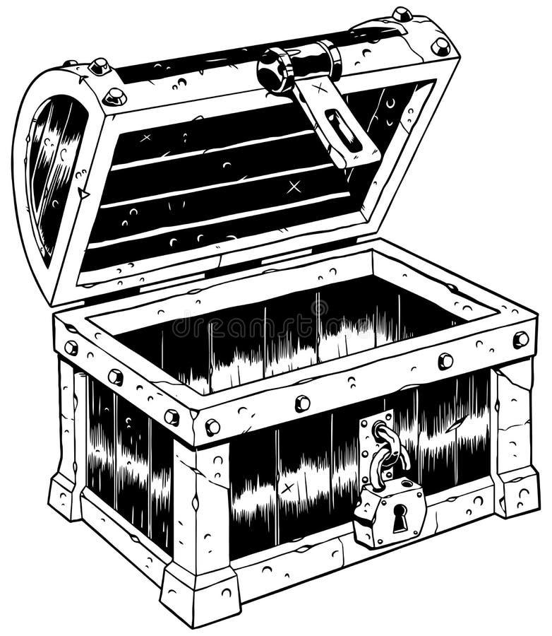 Pustej klatki piersiowej Kreskowa sztuka ilustracji