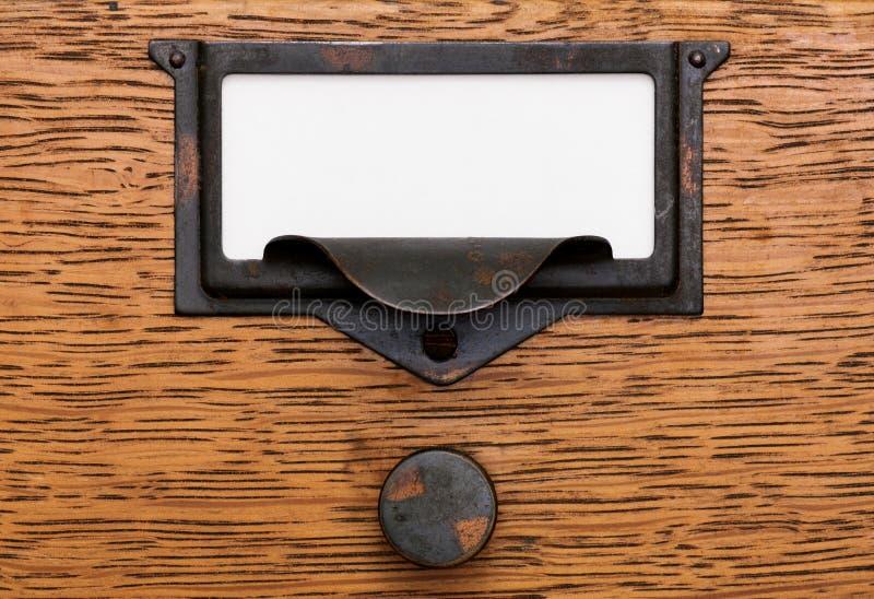 pustej kreślarza etykietki stary ciągnienie zdjęcia stock