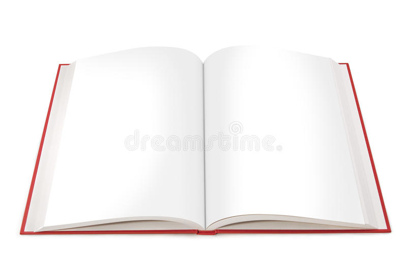 pustej książki otwarte strony zdjęcie stock
