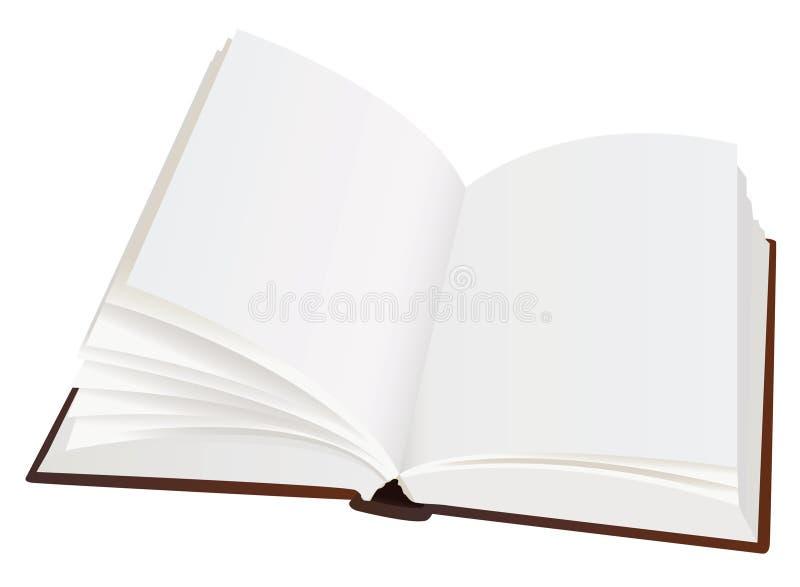 pustej książki rozpieczętowane strony realistyczne ilustracji
