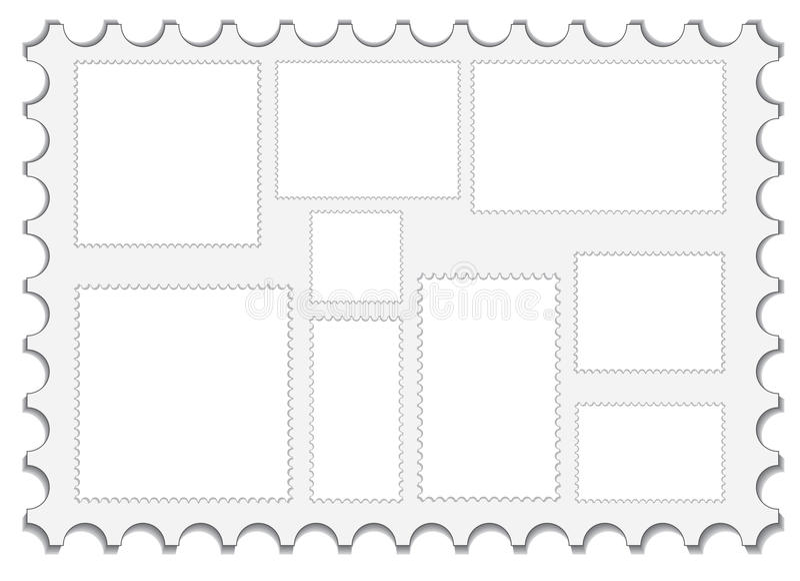 pustej poczta ustaleni znaczki ilustracji