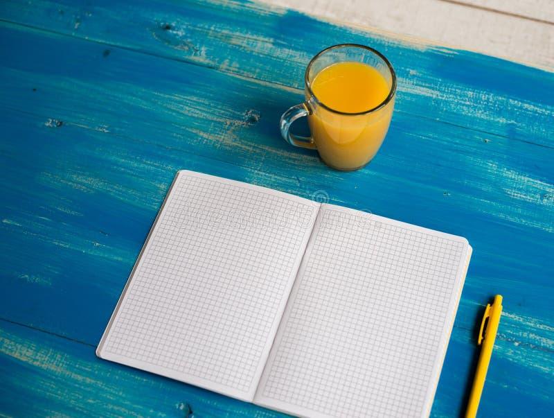 Pustej pojęcie dzienniczka diety zdrowy jedzenie fotografia stock