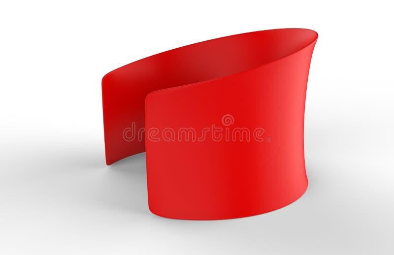 Pustej premii napięcia Round tkaniny wystawy handlowa Konferencyjny pokój ilustracja 3 d, royalty ilustracja