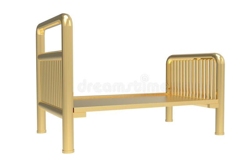 Pusty łóżka szpitalnego 3D rendering royalty ilustracja