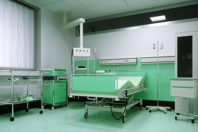 Pusty łóżko w sala szpitalnej royalty ilustracja