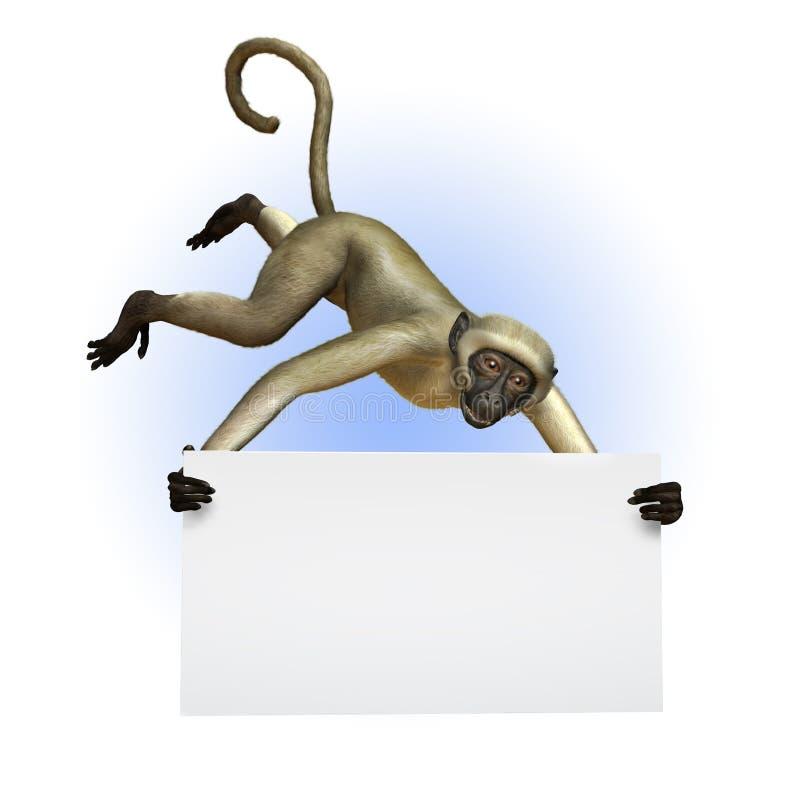pusty ścinku gospodarstwo obejmuje ścieżka małpa znaku ilustracja wektor