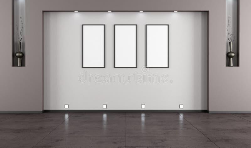 pusty żywy minimalistyczny pokój ilustracja wektor