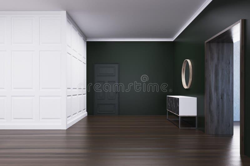 Pusty żywy pokój z klatką piersiową kreślarzi ilustracja wektor