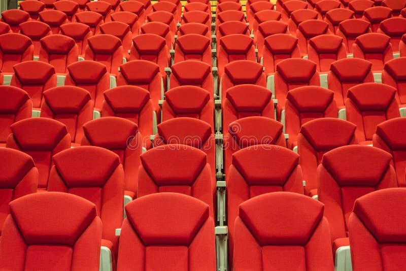 Pusty audytorium kino obrazy stock