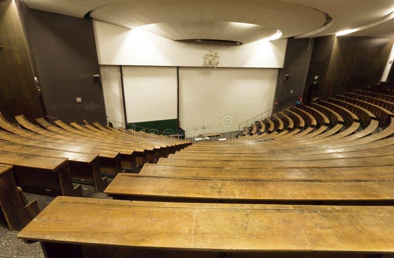 Pusty audytorium Techniczny uniwersytet dla wykładu i skalowanie ucznie fotografia stock