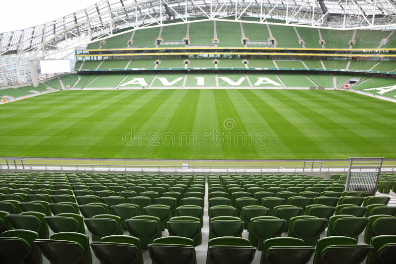 pusty aviva stadium fotografia royalty free