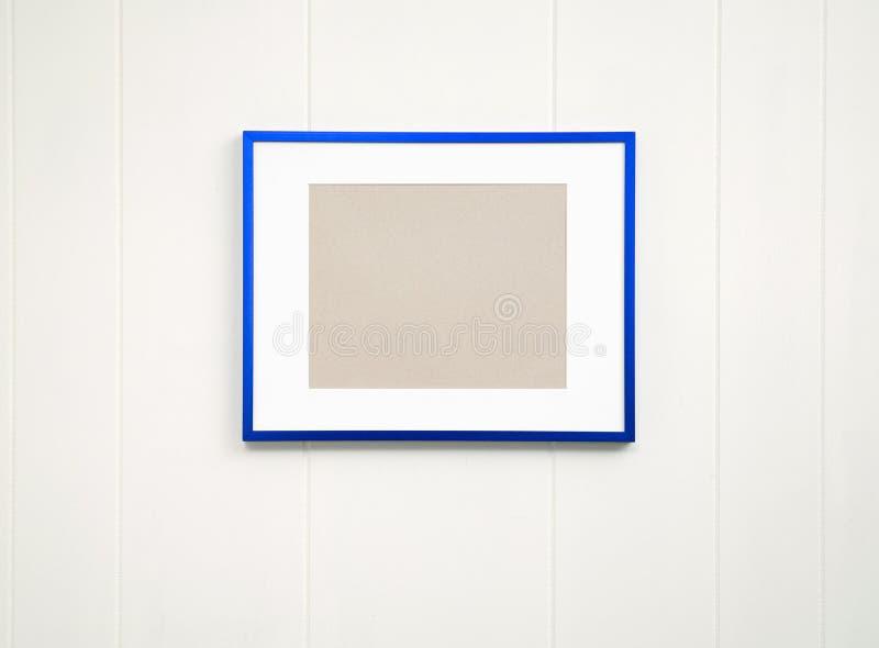 Pusty błękit ramy tło - Horyzontalny fotografia stock