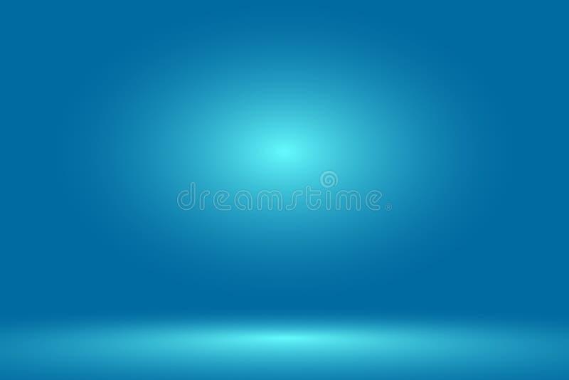 Pusty błękitny pracowniany pokój, używać jako tło dla pokazu twój produkty - wektor ilustracja wektor
