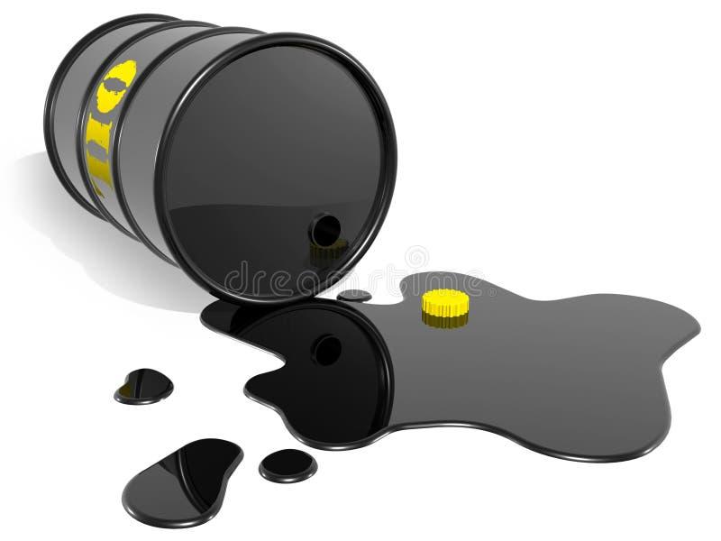 pusty baryłka olej ilustracja wektor