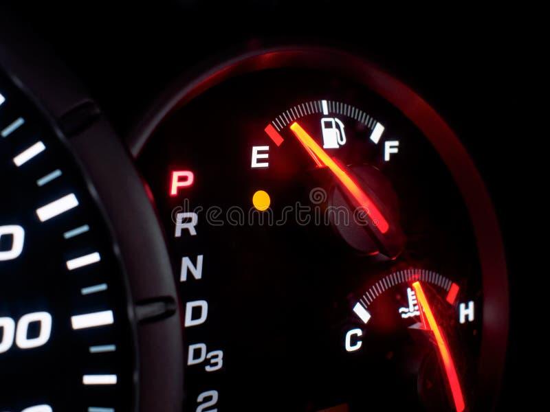 Pusty Benzynowy zbiornik fotografia stock