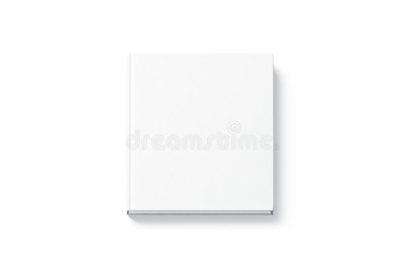 Pusty białego kwadrata hardback książki egzamin próbny up, odgórny widok obraz stock