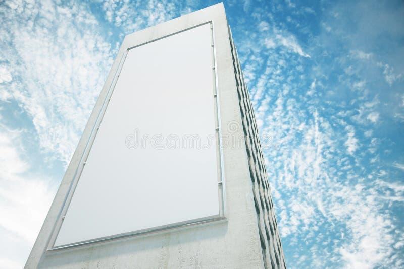 Download Pusty Biały Billboard Na ścianie Wysoki Budynek Z Niebieskim Niebem Zdjęcie Stock - Obraz złożonej z blank, deska: 65225020