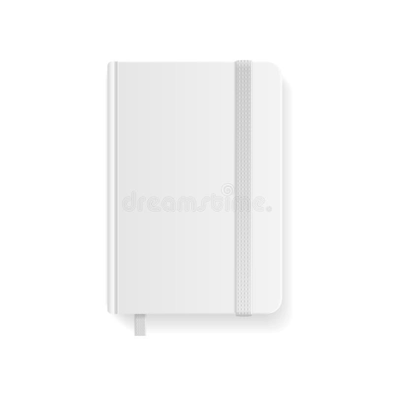 Pusty Biały Copybook szablon wektor ilustracja wektor