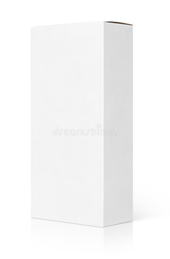 Pusty Biały Karton obraz stock