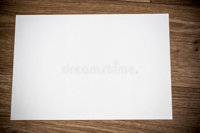 Pusty biały papier obrazy royalty free