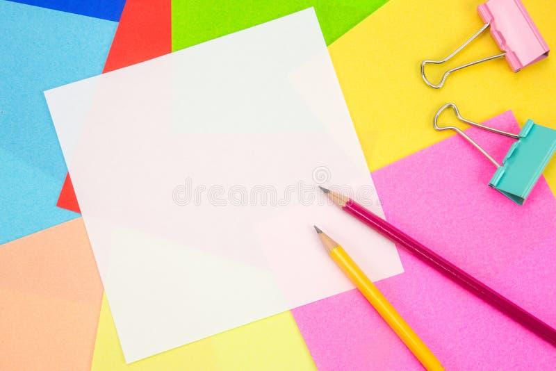 Pusty biały papier dla kopii przestrzeni obraz royalty free