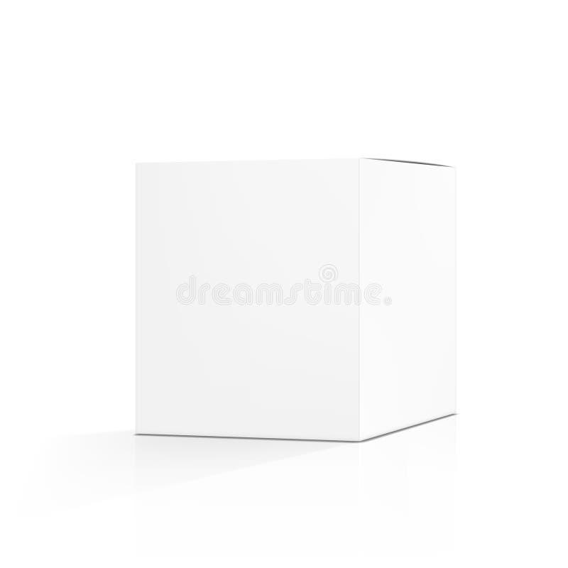 Pusty Biały pielucha karton Pakuje Z cieniem ilustracji