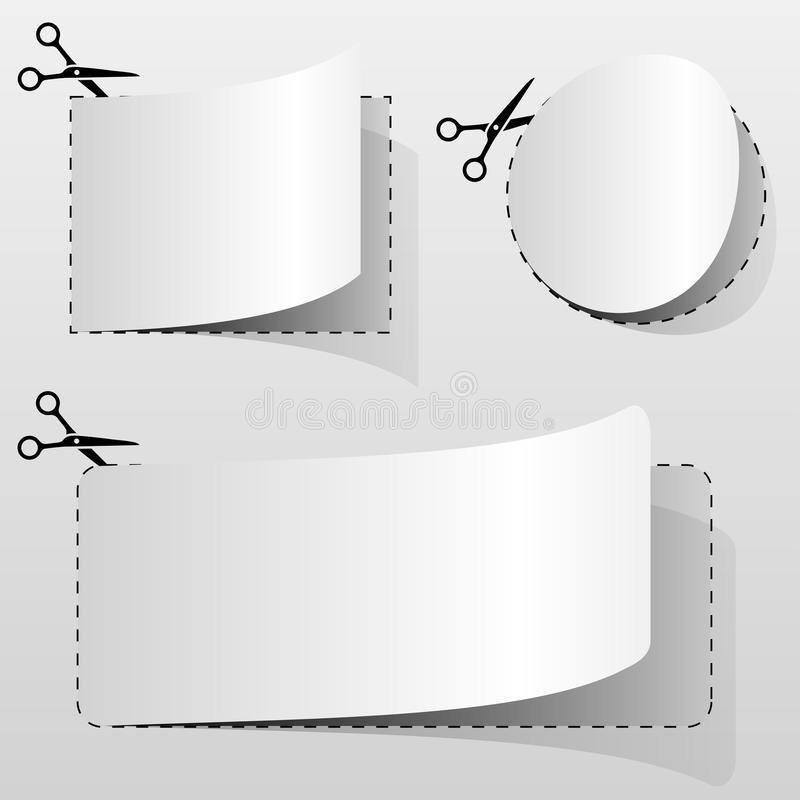 Pusty biały reklamowy talon fotografia stock