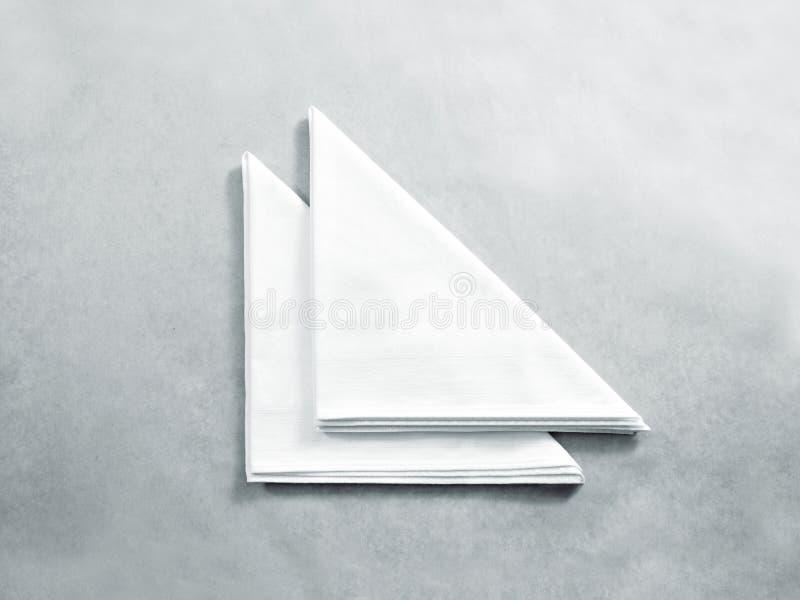 Pusty biały restauracyjny pielucha egzamin próbny up, zdjęcie stock