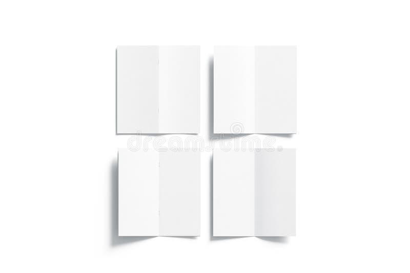 Pusty biały strony broszury egzamin próbny up, rozpieczętowany odgórny widok obraz stock