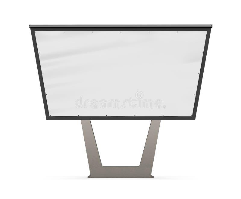 Pusty bigboard Uliczna reklama Reklamować na poczta projekcie billboard Uliczny billboard ilustracji
