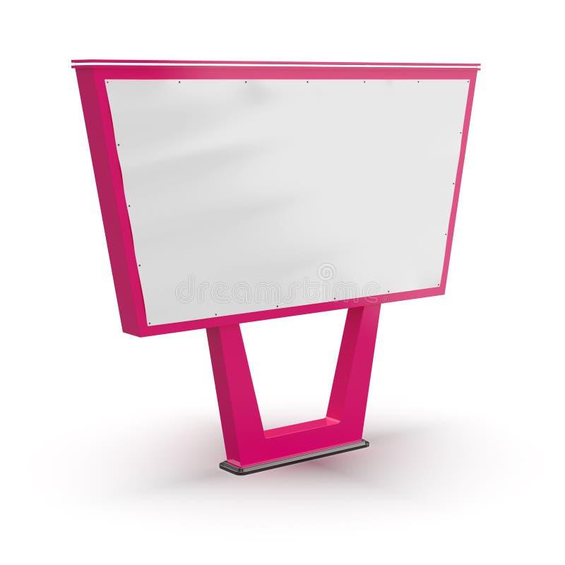 Pusty bigboard Uliczna reklama Reklamować na poczta projekcie billboard Uliczny billboard ilustracja wektor