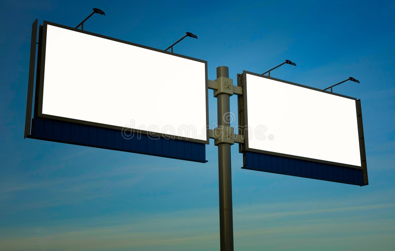 Pusty billboard fotografia royalty free