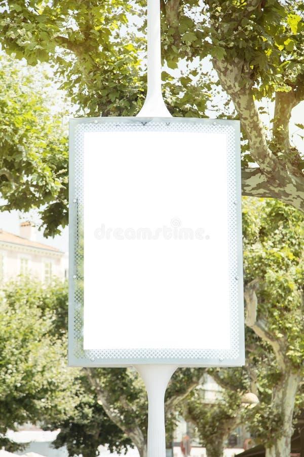 Pusty billboard obraz stock