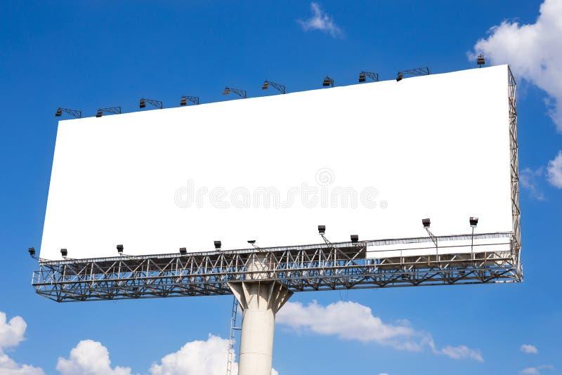 Pusty billboard przygotowywający dla nowej reklamy obraz stock