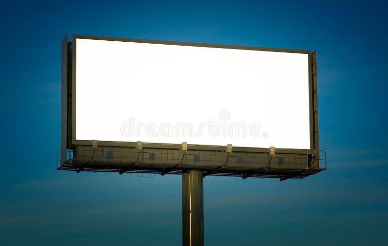Pusty billboard, właśnie dodaje tekst fotografia stock
