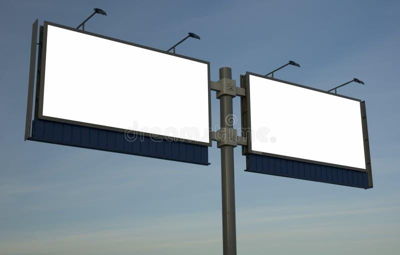 Pusty billboard, właśnie dodaje twój tekst obrazy royalty free