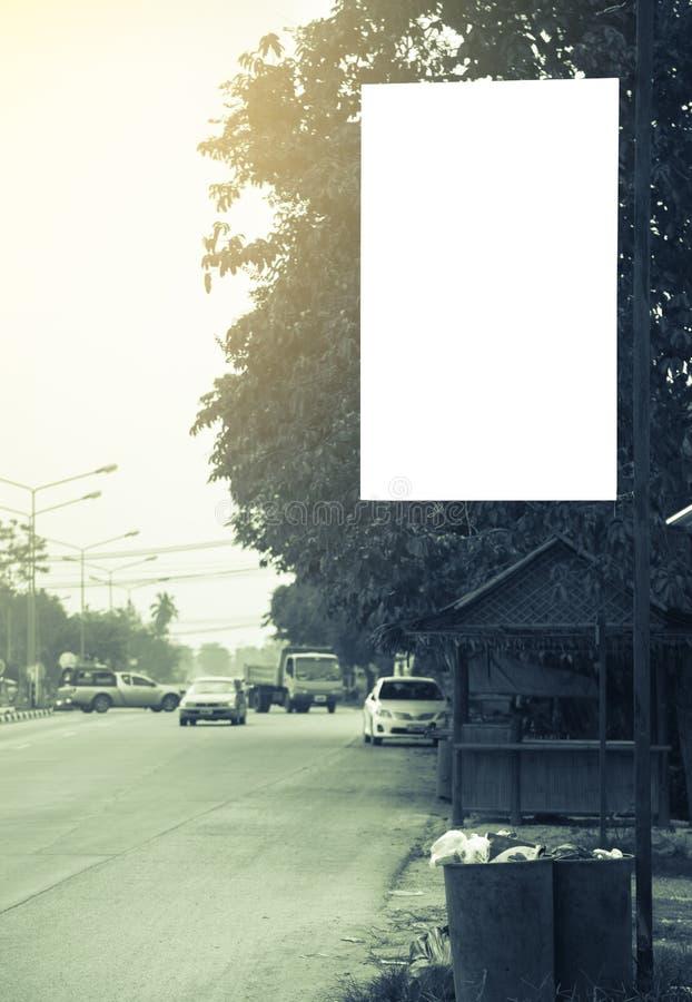 Pusty billboard z kopii przestrzenią dla twój wiadomości tekstowej obrazy stock
