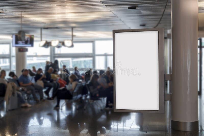 Pusty billboardu egzamin próbny up w lotnisku zdjęcia royalty free