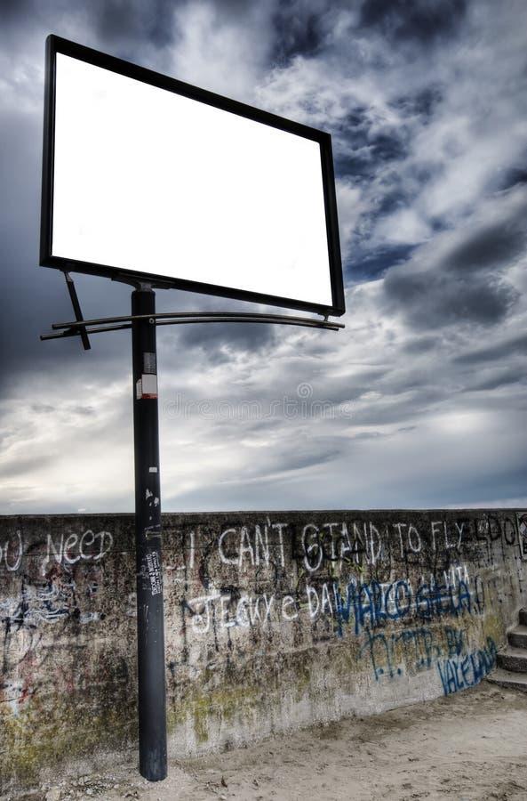 pusty billboardu miejskiego konkursu zdjęcie royalty free
