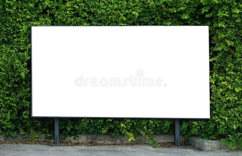 Pusty billboardu mockup szablon dla reklamy teraźniejszości obraz royalty free