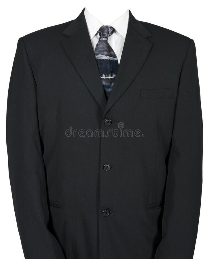 Pusty biznesmena kostium, krawat Odizolowywający na bielu i fotografia royalty free
