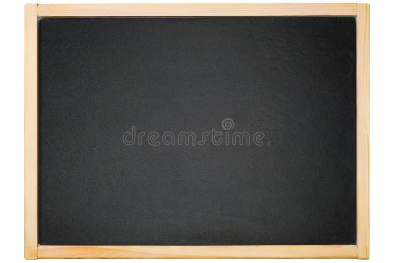 Pusty Blackboard tło textured odizolowywającym na bielu obraz royalty free