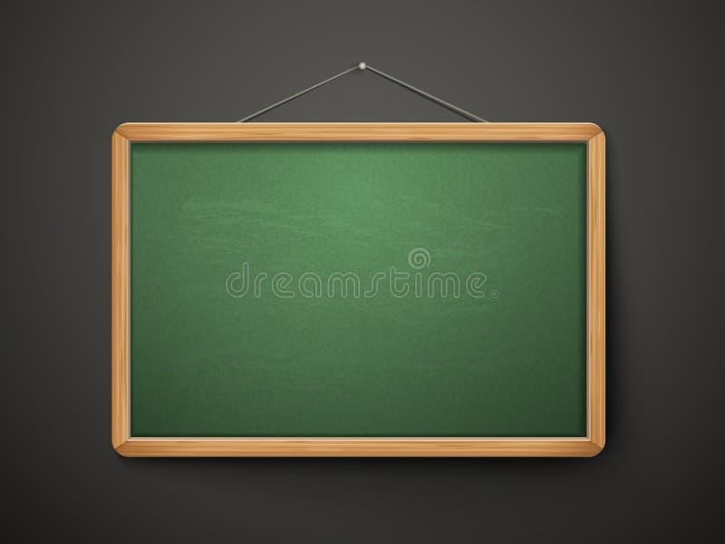 Pusty blackboard w drewnianej ramie ilustracja wektor