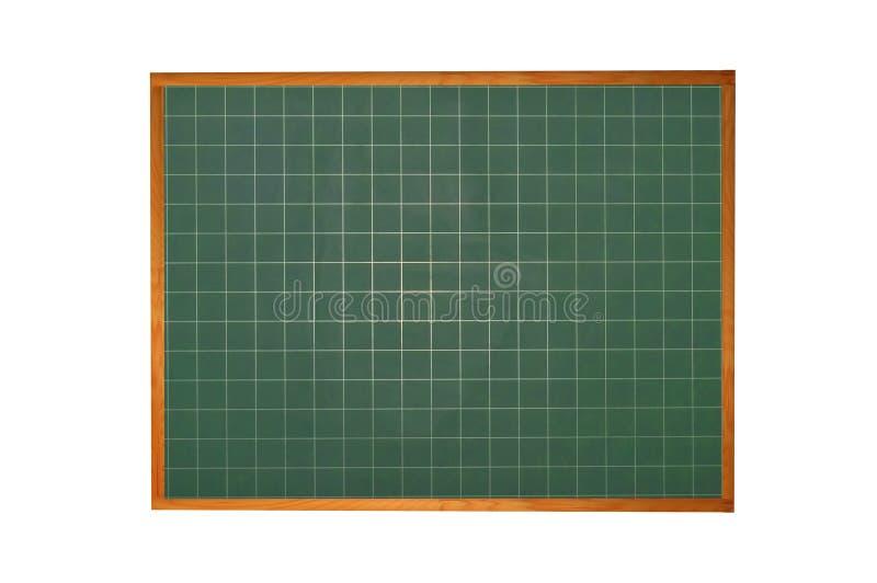 Pusty blackboard z drewno ramą odizolowywającą na bielu zdjęcie stock