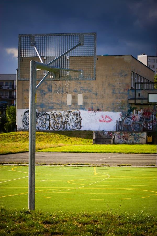 pusty boisko koszykówki zdjęcie royalty free