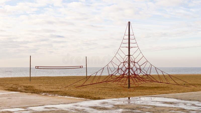 Pusty boisko w plaży zdjęcie stock