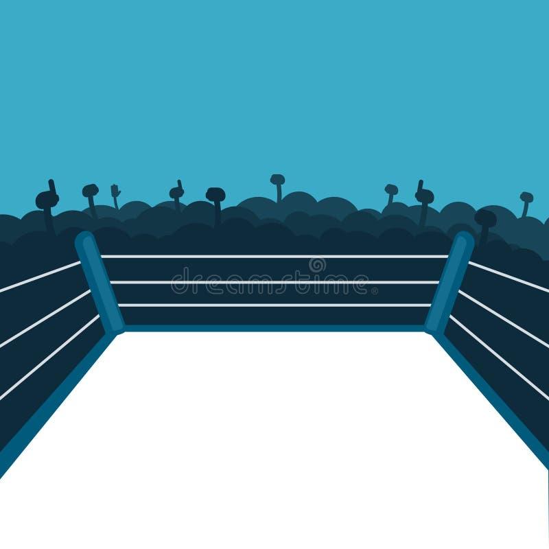 Pusty bokserski pierścionek ilustracji